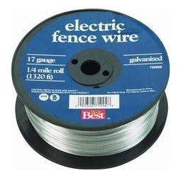 HUTCHISON INC - 17GA 1/4 Mile Electric Fence - Galvanized Electric Fence Wire Galvanized for resistance to rust/corrosion. Ideal for adding extra security to existing-systems and for temporary confinement operations. In handy dispensing spools.