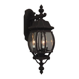 Exteriors - Exteriors Cast Aluminum French Style Traditional Outdoor Wall Sconce X-70-433Z - Decorating with style is simple with this Craftmade Cast Aluminum French Style Traditional Outdoor Wall Sconce. It's a durable and relatively maintenance-free three-light fixture with panels of clear beveled glass. You can't go wrong when decorating with this stunningly spectacular fixture.