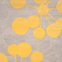 Organic Modern Rug — Bubble In Gray, 5x8
