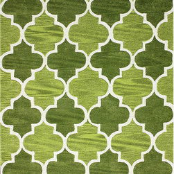 Nuloom - nuLOOM Hand-tufted Moroccan Trellis  Green Rug (7' 6 x 9' 6) - Quality meets value in this beautiful modern area rug. Handmade with polyester to prevent shedding,this plush area rug will enhance any home decor.