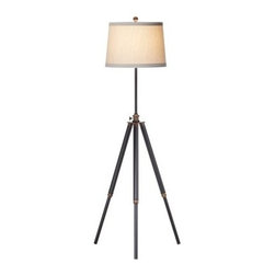 Pacific Coast Lighting Floor Lamp Tripod - Architectural design and soft illumination make the Pacific Coast Lighting Floor Lamp Tripod a chic, industrial way to light your space.About Pacific Coast LightingPacific Coast Lighting was founded in 1979. Since then they have set a standard of excellence for the entire lighting industry. They have built a reputation for innovative design, quality workmanship, and market responsiveness. Pacific Coast Lighting has its own house brand and is the exclusive lighting and accessory manufacturer for several of today's prestigious lifestyle brands. Kathy Ireland Home and National Geographic Home collections are two of these well-respected lines.