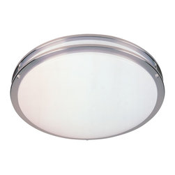 "Designers Fountain - Designers Fountain Round Fluorescent Flush Mount Ceiling Fixture in Satin Nickel - Shown in picture: 16 1/2"" Round Fluorescent Flushmount Ener in Satin Nickel finish"