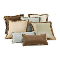 Silk Decorative Throw Pillows - These silk throw pillows immediately add style to any living space!
