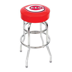 Imperial International - Cincinnati Reds MLB 30 - Bar Stool - Check out this awesome bar stool. It's 100% American made with commercial grade construction. It's perfect for your Man Cave, Game Room, Basement or Garage.