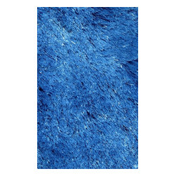 "LA Rugs - Shag Silky Shag Hallway Runner 2'0""x8' Runner Blue Area Rug - The Silky Shag area rug Collection offers an affordable assortment of Shag stylings. Silky Shag features a blend of natural Blue color. Machine Made of Polyester the Silky Shag Collection is an intriguing compliment to any decor."