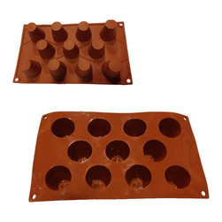 UNIVERSAL - Universal 11-cavity Pudding Tart Silicone Mold Baking Pans - Bake treats in the shape of designed cakes with this silicone pan mold. Versatile and easy to maneuver, it can be used for making cakes, ice cubes, jelly, chocolate, etc with no mess and no fuss.