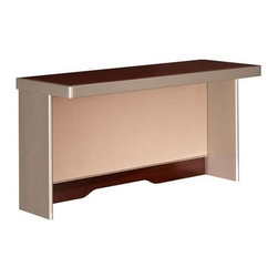 Bush Business - Office Cherry Colored Short Hutch w Fabric Ta - Diversify your office with this sleek cherry stained short hutch.  Mounting on a right or left corner desk, this stylish hutch with a fabric tackboard gives you the storage and organization you need for your desk. * Mounts on 47 in. Right or Left Corner Desk on the long edge. Accepts light pack (not included). Includes fabric tackboard. Includes time-saving, Install-Ready features (hutches are partially assembled). 47.244 in. W x 15.236 in. D x 23.031 in. H