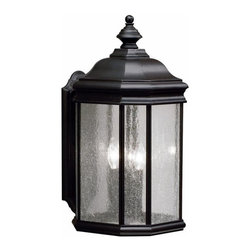 Kichler - Kichler Kirkwood 3-Light Black (Painted) Wall Lantern - 9030BK - This 3-Light Wall Lantern is part of the Kirkwood Collection and has a Black (painted) Finish. It is Outdoor Capable.