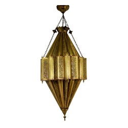 Badia Design Inc. - Decorative Moroccan Style Brass Chandelier - One of a Kind