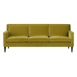 Rochelle Sofa - Look for grassy green sofas to brighten up a room.