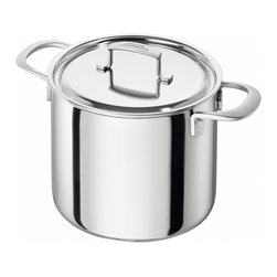 Zwilling Sensation 8 Qt. Stock Pot - A thing of beauty that will last _�� The Zwilling Sensation 8 Qt. stock pot features Sigma Clad  5-ply stainless steel  which guarantees fast and even heat distribution right to the edge of your pots and pans.  The patented stainless steel Silvinox surface will ensure that your Sensation cookware stays as shiny and bright as it was on the first day.  The cookware features solid joints  with no crevices to trap dirt or bacteria  and is compatible with all cooktops including induction.  Product Features    Straight  traditional design  smooth satin finish  Shot-blasted  stainless steel handles  resistant to scratches and fingerprints  Ergonomic stainless steel handles stay cool while cooking  Absolutely solid joint  no edges to collect dirt or bacteria  making the cookware especially easy to clean  Broad  clean pouring rim  The high-grade Silvinox surface remains shiny and silver like new  even after years of use