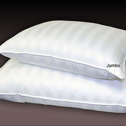 None - Cabana Stripe 800 Thread Count Down Alternative Pillows (Set of 2) - Give you and your partner the gift of a good night's sleep with these two comfortable down alternative pillows. They feature an 800-thread count construction for extra softness and a striped design that will match feminine or masculine bedding schemes.
