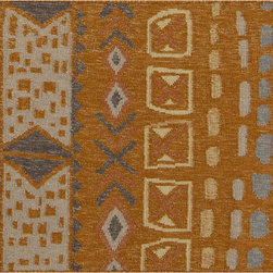 Surya - Surya Nomad NOD-103 (Burnt Orange, Olive) 5' x 8' Rug - This Hand Woven rug would make a great addition to any room in the house. The plush feel and durability of this rug will make it a must for your home. Free Shipping - Quick Delivery - Satisfaction Guaranteed