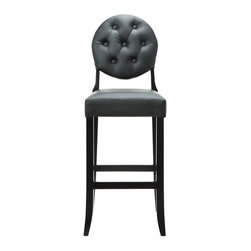 Humphrey Tufted Bar Stool - Complex, a little moody, and always the dapper gent, the Humphrey Tufted Bar Stool makes cocktail hour a classy affair. With its comfortable padded seat and button-design seat back, the bar stool makes cozying up to the bar comfortable and stylish.