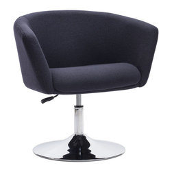 Zuo Modern - Zuo Modern Umea Arm Chair Iron Gray [Set of 2] - Arm Chair Iron Gray belongs to Umea Collection by Zuo Modern The Umea Chair takes its inspiration from modern European design and mixes it with American details such as the soft wool-like texture of the fabric and the vibrant color offerings. The base is chrome with swivel and adjustable height. Arm Chair (2)