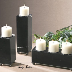 "19681 Jett, Candleholders, S/3 by uttermost - Get 10% discount on your first order. Coupon code: ""houzz"". Order today."