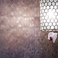 Eclectic Powder Room by Alison Besikof Custom Designs