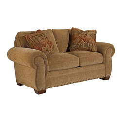 Broyhill - Broyhill Cambridge Two Seat Loveseat with Attic Heirlooms Wood Stain - Broyhill - Loveseats - 50541Q1 - About This Product: