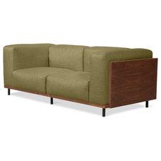 Modern Sofas Fenway Green 2-Seat Sofa