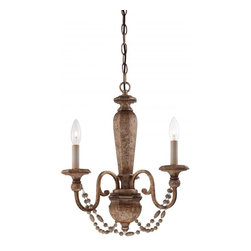 Minka-Lavery - Minka-Lavery Cornerstone 3-Light Mini Chandelier - 1473-562 - This 3-Light Up Mini Chandelier has a Gold finish and is part of the Cornerstone collection.