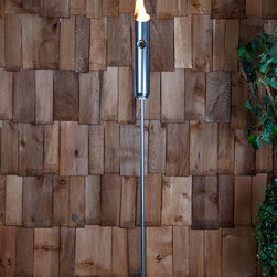 "Fire Sense - Firenze Torch - Providing the perfect flame, our Firenze Torch is constructed of polished aluminum. Perfect for lighting a patio or walkway, the Firenze Torch uses a standard plumber's torch gas canister available at any home improvement store.; Lightweight and portable; Uses standard gas canister; Will operate for approximately 3 - 4 hours on one gas canister; Breaks down for easy storage; Weight: 3 lbs; Dimensions: 4""L x 4""W x 77""H"