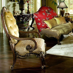 AICO Furniture - Chateau Beauvais Chair - 75834-BRONZ-39 / 75834-BRNBL-39 - Chair