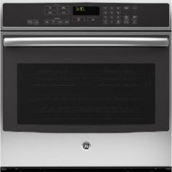 "GE Profile - PT9050SFSS 30"" SC Convection Single Oven  with Glass Touch Controls  Designer St - Profile 30 SC Convection Single Oven with Glass Touch Controls Designer Style Handle and Self Clean with Steam Clean Option"