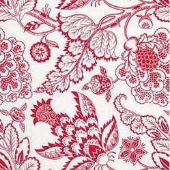 Schumacher - Maracanda Vine Fabric, Berry - 2 YARD MINIMUM ORDER