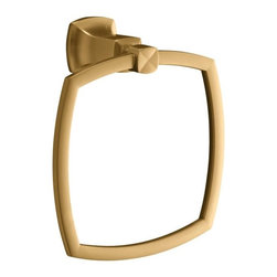 "KOHLER - KOHLER K-16254-BV Margaux Towel Ring in Brushed Bronze - KOHLER K-16254-BV Margaux Towel Ring in Brushed BronzeMargaux accessories create an aura of classic elegance with a variety of finishes that reinforce a sleek, contemporary feel as well as the timelessness of traditional decor.KOHLER K-16254-BV Margaux Towel Ring in Brushed Bronze, Features:• 7-1/2""W x 3-1/2""D x 8-5/16"" H"