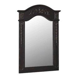 """Belle Foret - Belle Foret 36 Carved Portrait Mirror, Black (80051) - Belle Foret 80051 36"""" Carved Portrait Mirror, Black"""