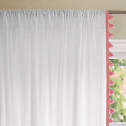 Serena & Lily - French Tassel Window Panel  Punch - Window treatments are the finishing touch in a child's room. These whimsical tassels are playful and subtle.