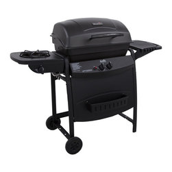 Char-Broil - Char-Broil 2 Burner Gas Grill with Side Burner - Grill up a delicious meal with this two-burner gas grill from Char-Broil. A side burner completes this spacious grill.