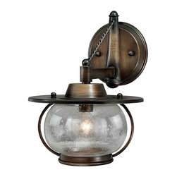Vaxcel - Jamestown Parisian Bronze Wall Sconce - Vaxcel W0017 Jamestown Parisian Bronze Wall Sconce