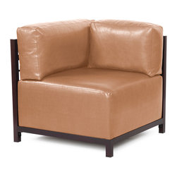 Howard Elliott - Howard Elliott Avanti Bronze Axis Corner Chair Slipcover - Axis corner chair Avanti bronze slipcover