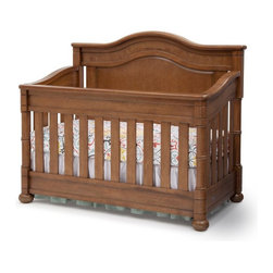 Simmons Kids - Simmons Kids Hanover Park Crib N More - 315180-227 - Shop for Cribs from Hayneedle.com! Designed to grow with your child the Simmons Kids Hanover Park Crib N More is a beautiful heirloom quality crib that will last for years. Crafted from solid wood this crib features a special multi-step finish that includes sanding staining and glazing by hand. Available in your choice of gorgeous nontoxic finishes this JPMA and ASTM certified crib converts to a toddler bed daybed (daybed conversion rail included) and a full-size bed so your child can use it from the time she's born until she's graduated high school. Its metal mattress support system features three different positions so you can lower the mattress as your baby grows. You'll love the bun feet and intricate woodworking on the post which gives this crib a beautiful classic look that won't go out of style. Additional Features Multi-step finish is hand applied Metal mattress support system with 3 positions Tested for lead and other toxic elements Heirloom quality construction Includes daybed conversion rail Simmons Kids: The Natural Choice for BabyFrom a company equated with a good night's sleep come the same high-quality products geared for babies and kids. Exciting lines and collections offer the latest and enduring styles for the nursery and the years beyond. Convertible cribs beautiful dressers and chests and everything else you can imagine for the nursery is well-crafted by Simmons. Best of all every piece of Simmons Kids Furniture meets or exceeds federal safety standards.
