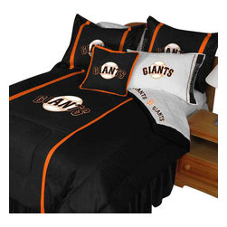 Store51 LLC - MLB San Francisco Giants Comforter Pillowcase Baseball Bed, Twin - Features: