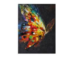 Bassett Mirror - Bassett Mirror Hand-Painted Canvas, Beauty In Flight - Beauty In Flight