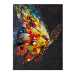 Bassett Mirror - Bassett Mirror Hand-Painted Canvas, Beauty In Flight - Beauty In Flight