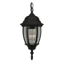 Craftmade - Craftmade Z261 Bent Glass 1 Light Outdoor Pendant - Single Light Small Outdoor Pendant from the Bent Glass CollectionFeatures: