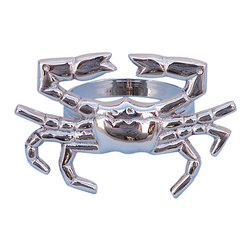 "Handcrafted Model Ships - Chrome Crab Napkin Ring 3"" - Chrome Nautical Napkin Ring - This Chrome Crab Napkin Ring 3"" is the perfect addition for those with a nautical theme kitchen. Strong, sturdy, and durable buy a set of these napkin rings to accommodate all of your guests. The chrome finish on this crab will infuse your dining area with a rustic nautical appearance. Dimensions: 3"" Long x 2"" Wide x 2"" High"