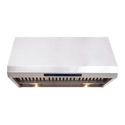 "Cavaliere - Cavaliere AP238-PS85 36"" Under Cabinet Hood - 360W Under Cabinet Range Hood with 4 Speeds, Timer, LCD Keypad,  Baffle Filters, Heat Lamps & Halogen Lights"