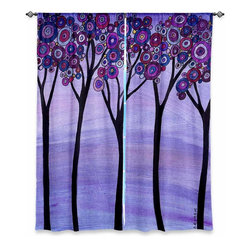 """DiaNoche Designs - Window Curtains Lined by Valerie Lorimer - Slumber - Purchasing window curtains just got easier and better! Create a designer look to any of your living spaces with our decorative and unique """"Lined Window Curtains."""" Perfect for the living room, dining room or bedroom, these artistic curtains are an easy and inexpensive way to add color and style when decorating your home.  This is a woven poly material that filters outside light and creates a privacy barrier.  Each package includes two easy-to-hang, 3 inch diameter pole-pocket curtain panels.  The width listed is the total measurement of the two panels.  Curtain rod sold separately. Easy care, machine wash cold, tumble dry low, iron low if needed.  Printed in the USA."""