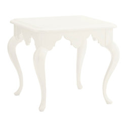 Lexington - Lexington Ivory Key Cumberland Square Lamp Table 543-953 - The Moroccan inspired apron embellishes the apron of this lamp table.