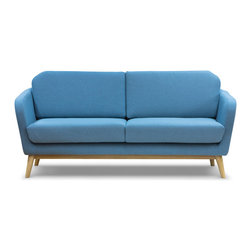 NYFU - The Cutie Loveseat - This Cutie Loveseat will cheer up your space with its curvy and hospitable nature. It is literally soft and figuratively sweet!