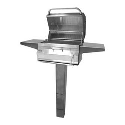 Fire Magic - Legacy 22SC01CG6 In-Ground Post Charcoal Grill with Smoker Oven/Hood - Legacy In-Ground Post Charcoal Grill with Smoker Oven/HoodCharcoal Post Series Features:All 304 Stainless Steel construction