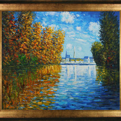 "overstockArt.com - Monet - Autumn at Argenteuil Oil Painting - 20"" x 24"" Oil Painting On Canvas Hand painted oil reproduction of a famous Monet painting, Autumn at Argenteuil. The original masterpiece was created in 1873. Today it has been carefully recreated detail-by-detail, color-by-color to near perfection. While Monet successfully captured life's reality in many of his works, his aim was to analyze the ever-changing nature of color and light. Known as the classic Impressionist, one can not help but have deep admiration for his talent. This work of art has the same emotions and beauty as the original. Why not grace your home with this reproduced masterpiece? It is sure to bring many admirers!"