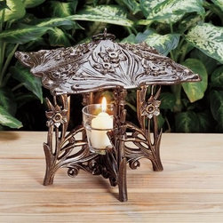 Whitehall Products LLC - Daffodil Twilight Lantern - Copper Verdi - • Color: Copper Verdi