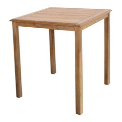 International Home Miami - Amazonia Teak Eden Teak Bar Table - 100% High quality Teak wood