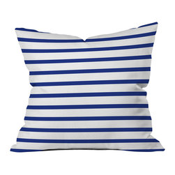 DENY Designs - Holli Zollinger Nautical Stripe Throw Pillow - Wanna transform a serious room into a fun, inviting space? Looking to complete a room full of solids with a unique print? Need to add a pop of color to your dull, lackluster space? Accomplish all of the above with one simple, yet powerful home accessory we like to call the DENY throw pillow collection! Custom printed in the USA for every order.