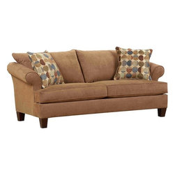 Broyhill - Sonia Sofa in Mocha - 4536-3Q - Affinity finish